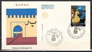 Morocco, Scott cat. 340. Folklore Festival issue. First day cover.