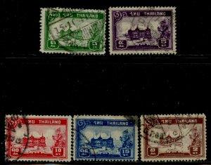 Thailand # 238-42, Used. CV $ 7.00