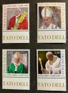 Vatican City Sc# 1674-1677 Complete Set MNH Papa Francesco 2018