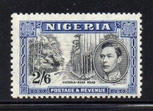 Nigeria Sc 63c 1938 2/6d G VI & Victoria Poad GVI  stamp mint perf 13 x 11 1/2