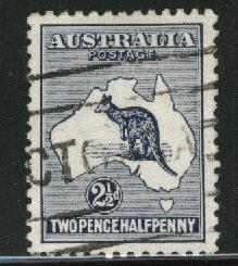 Australia Scott 46 Used Kangaroo & Map 1915-24