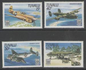 TUVALU SG329/32 1985 WORLD WAR II AIRCRAFT MNH