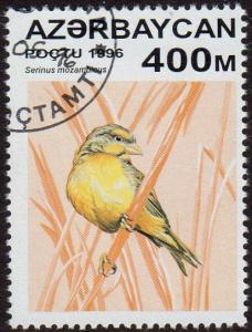 Azerbaijan 596 - Cto - 400m Yellow-fronted Canary (1996) (cv $1.20) (1)