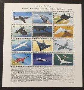 Palau 1996 #403-4 S/S, Planes, MNH-2 Pics.