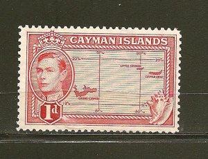 Cayman Islands 102 Map Mint Hinged
