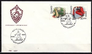 Iceland, Scott cat. 708-709. Skiing & Volleyball issue. First day cover. ^
