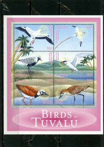 TUVALU 2000 Sc#832 FAUNA BIRDS SET OF 6 STAMPS MNH