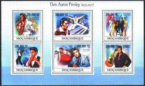 Mozambique. 2009. 3350-55. Elvis Presley. MNH.