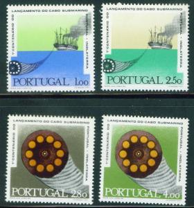 PORTUGAL Scott 1080-3 MNH** Cable paddlewheel steamer