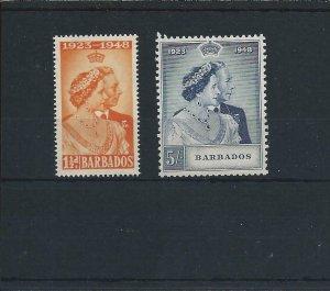 BARBADOS 1948 RSW PAIR VLMM SG 265/66 CAT £17