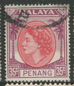 STAMP STATION PERTH Penang #40 QEII Definitive Used 1954-1955