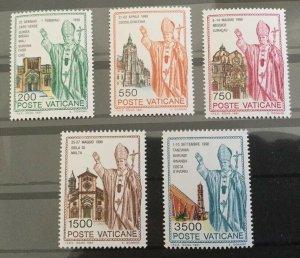 Vatican City Sc# 890-894 MNH Complete Set 1991 Pope John Paul II