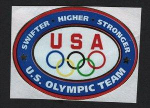 UNITED STATES HIGH QUALITY OLYMPICS METALLIC LABEL   - BARNEYS