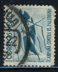 Mexico #RA14 Mosquito Attacking Man 1c prus blue 1939 used malaria