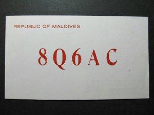 5329 Amateur Radio QSL Card Republic of Maldives