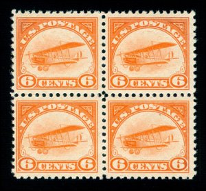 MOMEN: US STAMPS #C1 BLOCK MINT OG NH