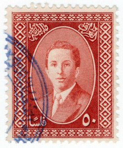 (I.B) Iraq Revenue : Duty Stamp 50f (King Faisal II)