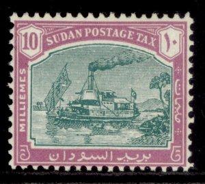 SUDAN GVI SG D14, 10m green & mauve, M MINT. Cat £21.