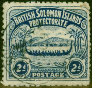 Solomon Islands 1907 2d Indigo SG3 Good Used