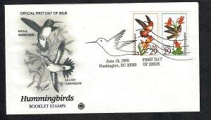 2645 - 2646 Hummingbirds Unaddresssed PCS FDC