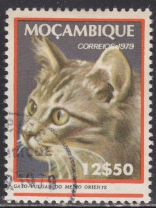 Mozambique 622 Long-Haired Mid·East Tabby Cat 1979