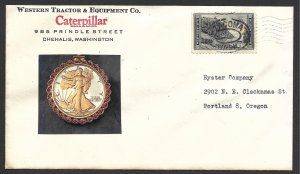 Doyle's_Stamps: 1940's Washington Caterpillar Tractors Advertising Cover