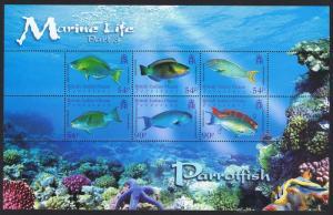 BIOT Parrotfish Marine Life 3rd series MS SG#MS356