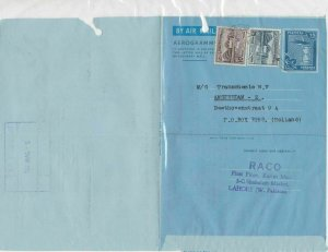 Pakistan 1967 Raco Importers Commercial Stamped Aerogramme to Holland Ref 26664