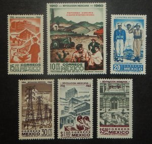 Mexico 913-18. 1960-61 Revolution Anniversary, postage, NH