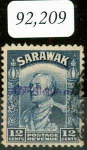 Sarawak 1942 Jap Occ 12c Blue SGJ13 V.F.U B.P.A Certificate