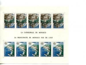 Monaco 1978 Europa mini sheet   Mint VF NH