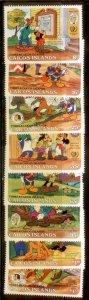 Caicos Islands  Disney SC# 78-85 MNH CH1