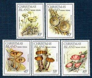 Christmas Island 152-56 MNH Fungi (SCV $3.30)