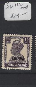 INDIA  CHAMBA  P1306B)  KGVI 1 1/2A  SG 112      MNH