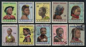 Angola #419-22,4-6,9,32A-B*/u  CV $6.05