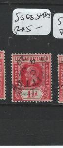 LEEWARD ISLANDS (P0606BB) KGV 1 1/2D  SG63  ST KITTS    VFU