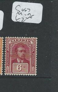 SARAWAK (P2001B) BROOKE 6C  SG67    MOG
