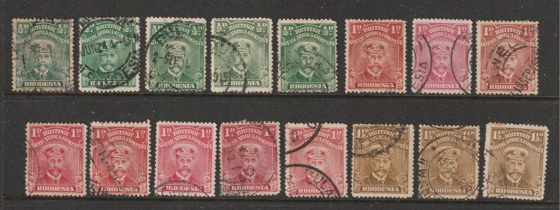 Rhodesia a small used lot of KGV heads
