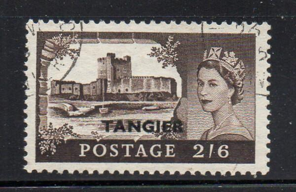 Great Britain Tangier Sc 576 1955 2/6d Castle stamp used