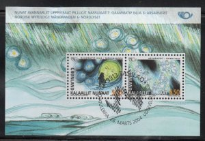 Greenland Sc 428a 2004 Norse Mythology stamp sheet used