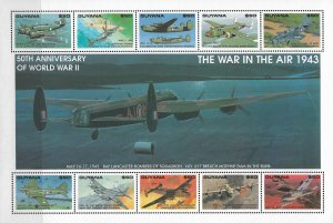 1993 Guyana 2709 War in the Air MNH S/S of 10