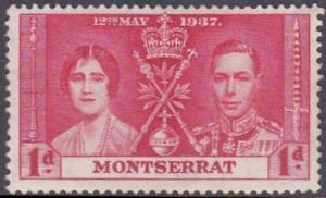 Monserrat 1937 SG98 HM