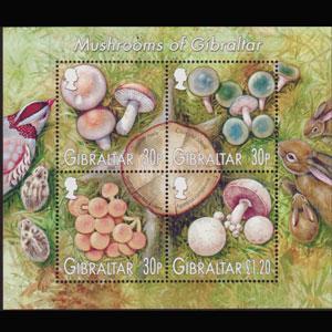 GIBRALTAR 2003 - Scott# 953a S/S Mushroom NH