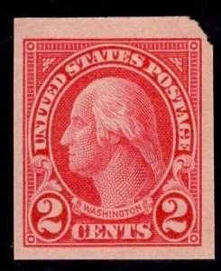 US Stamp #577 2c Washington MINT Hinged SCV $1.30