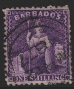 Barbados Sc#49 Used - Watermark sideways and reversed!