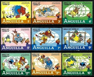 ANGUILLA - 1982 - DISNEY - WORLD CUP SOCCER - ESPANA - BEDKNOBS - MINT MNH SET!