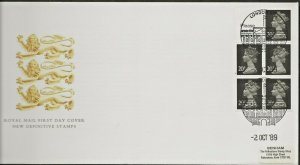 2/10/1989 £1.00 VENDING BOOKLET  FDC