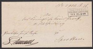 POLAND 1866 Folded official letter ex BEUTHEN / LIEGNIZT....................G194
