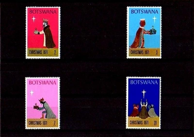 BOTSWANA  - 1971 - CHRISTMAS - STAR -  THREE KINGS - STAR ++ MINT - MNH SET!