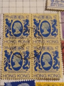 Hong Kong 403 used block of 4